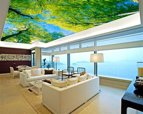 wallpaper 3d buat dinding unik 15 plafon 3d ini bikin betah tiduran memandangi