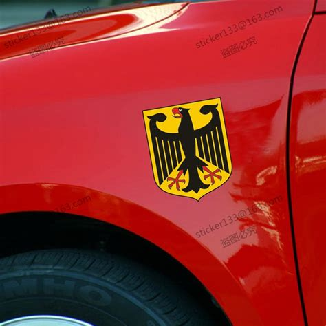 Made In Germany Vinyl Bumper Sticker Decal German Coat Of Arms Of Germany German Eagle Flag 3m Refletive