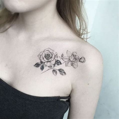 rose tattoo on collarbone 50 pretty flower ideas for creative juice