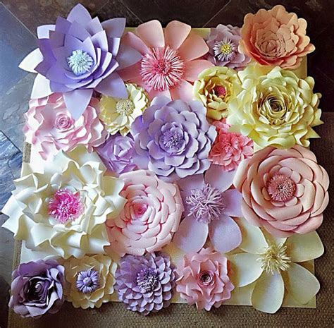Paper Flowers Floral Garland Decor Home Wall Decor Paper Flower Wall Decor Wedding Decor Home Decor Paper