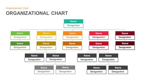 Organizational Chart Hierarchy Keynote And Powerpoint Powerpoint Organization Chart Template
