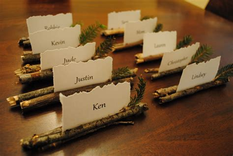 how to make a place card holder edits rustic place card holders