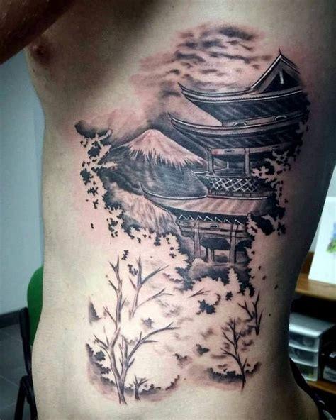 tattoo oriental espalda pagoda tattoo oriental tattoo japon 233 s pinterest