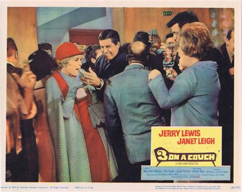 Jerry Lewis Three On A by 3 On A Lobby Card 2 Jerry Lewis Janet Leigh