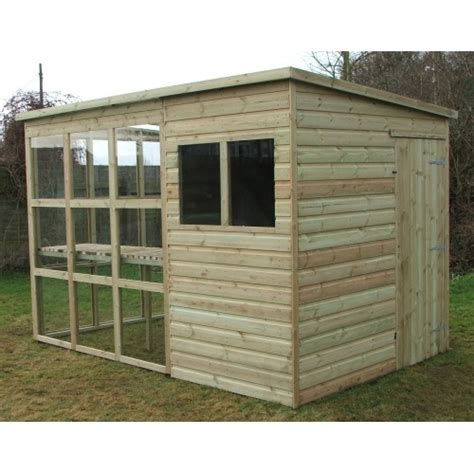 Garden Shed And Greenhouse Combination by Pent Greenhouse Potting Shed Combo Garden