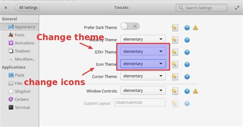 icon changer themes how to install themes and icons in elementary os freya