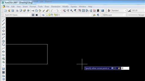 cara membuat gambar 3d menggunakan autocad 2007 membuat gambar kotak dengan rectangle tools belajar