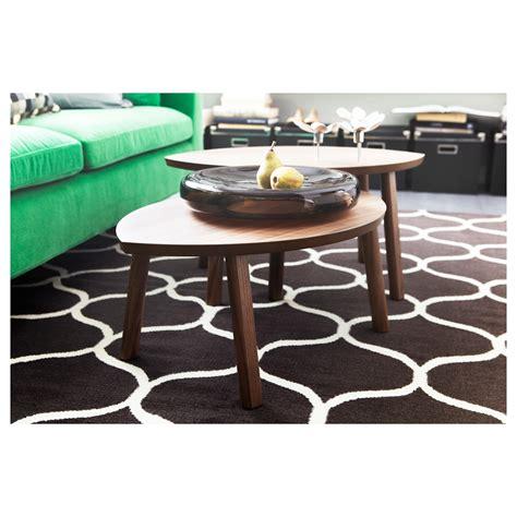 Stockholm Coffee Table Ikea Stockholm Nest Of Tables Set Of 2 Walnut Veneer Ikea