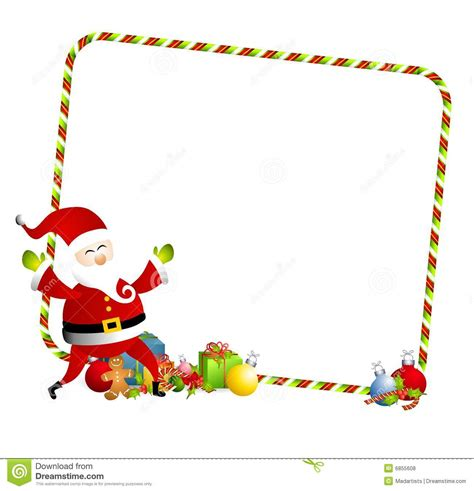 Clipart Border Of Gifts And by Santa Borders Clipart