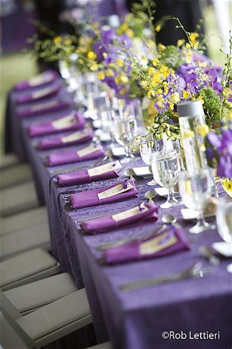 wedding table settings purple your wedding in colors yellow and purple arabia weddings