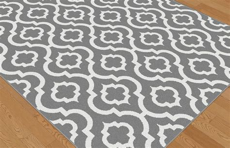 geometric patterned rugs metro gray contemporary patterned moroccan geometric 1029 gray area rug ebay