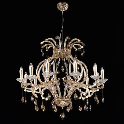 Luxury Bronze Swarovski Crystal 12 Arm Chandelier Chandelier Arms
