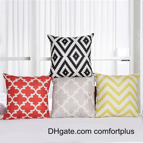 Bed Covers And Pillows by 3d Fresh Geomatric Pattern Throw Pillow Linen Cushion