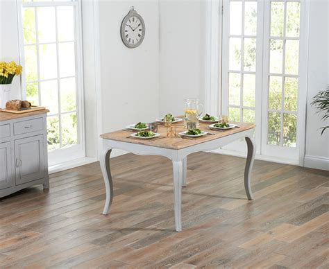 parisian table and chairs parisian 130cm grey shabby chic dining table with chairs