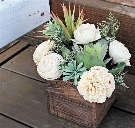 Succulent Arrangement Centerpiece Wood Box Home Decor Succulent Plant Centerpiece