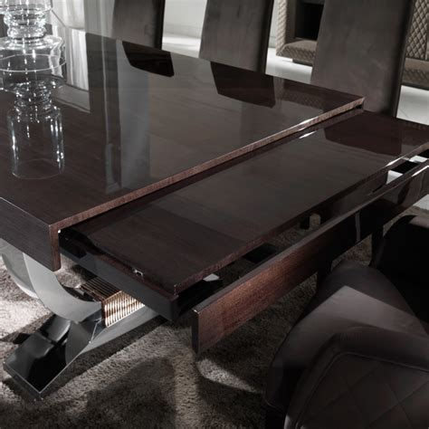 Extendable Boardroom Table Large Modern Italian Veneered Extendable Dining Table Set Juliettes Interiors