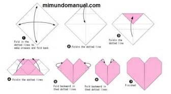 como hacer un corazon de papel facil san valentin como hacer un corazon en origami y fieltro mimundomanual