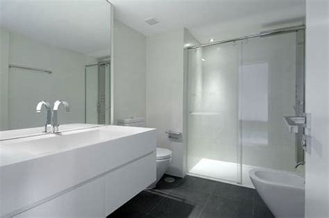 white contemporary bathrooms witte badkamer
