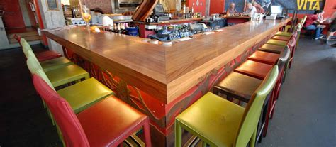 Restaurant Bar Tops Wood Tops For Restaurants And Bars Elmwood Reclaimed Timber