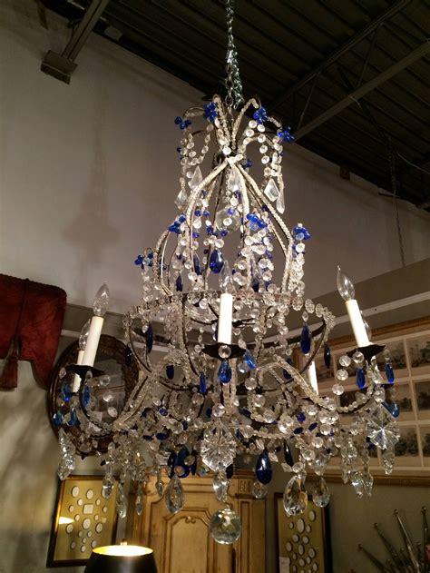 Cobalt Blue Chandelier Venetian And Cobalt Blue Chandelier At 1stdibs