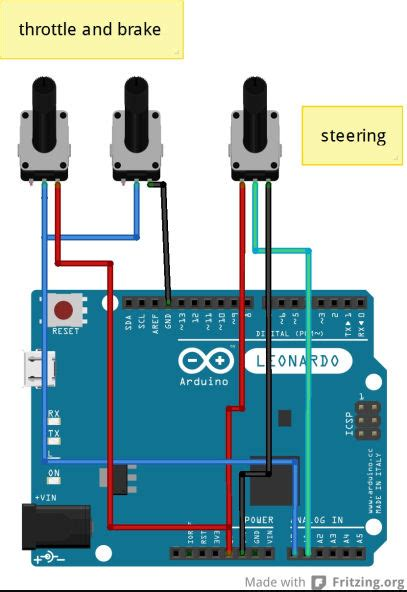 Jual Steering Wheel Using Arduino by Arduino Leonardo Usb Steering Wheel