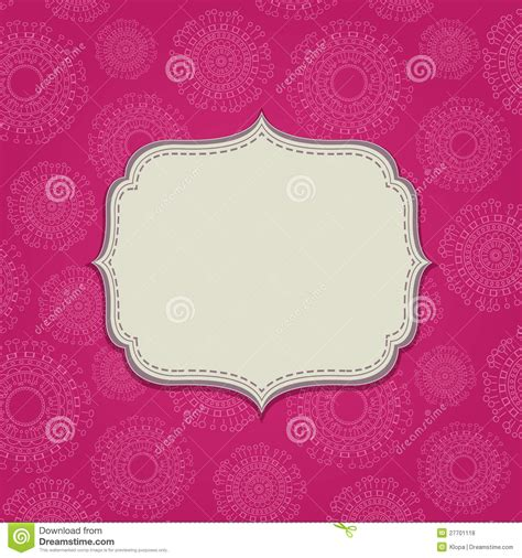 pink invitation card  blank label royalty  stock
