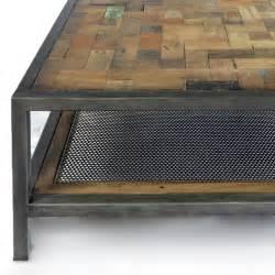 Superb Table Basse En Teck #3: Table-basse-industrielle-atelier-fer-et-bois-de-bateau-recycle.jpg