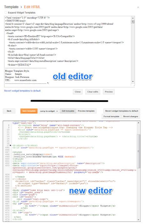 xml template editor launches a new template editor widgets