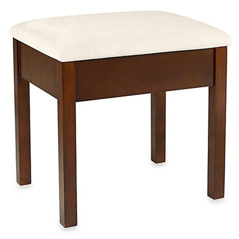 storage stools and benches storage vanity bench bed bath beyond