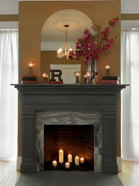 Using Fireplace by How To Cover A Fireplace Surround And Make A Mantel How