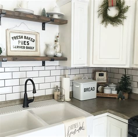 bathroom backsplash ideas for public space bathroom farmhouse winter kitchen the little white farmhouse blog