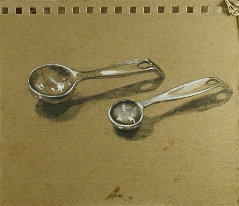 1 Table Spoon by 100 Drawings 100 Days 1 Tbsp 1 Tsp 073