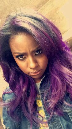 black women with purple colour in their hair 17th birthday wish on pinterest purple ombre purple