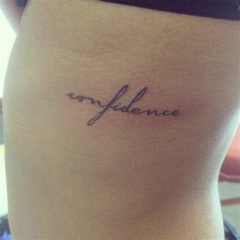 confidence tattoo confidence word side creativefan