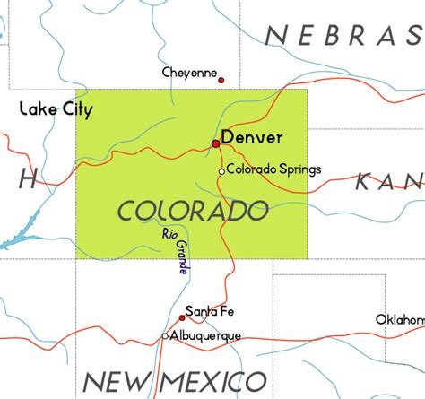 map usa colorado map of colorado in the usa