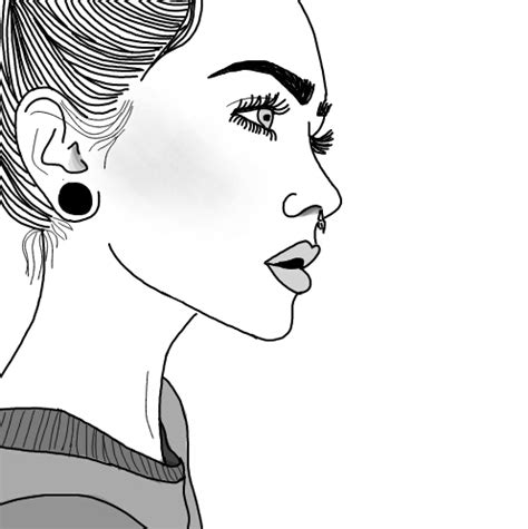 #tumblr #tumblroutlines #outlines #girl#FreeToEdit   Drawings, Girls and Sketches