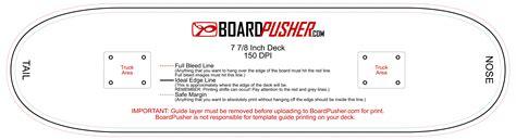 skateboard deck template boardpusher help design tips design your own skateboard