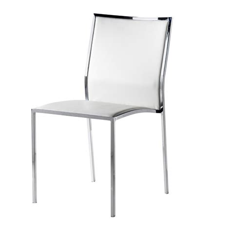 chaise simili cuir blanc chaise design simili cuir blanc city