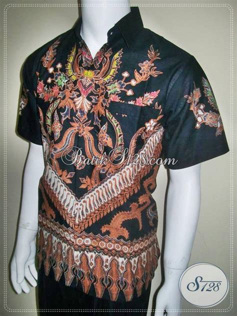 Hem Batik Wayang Pandawa Tosca Batik Cabut Warna hem batik pria modern warna dasar hitam asli ld131btc toko batik 2018