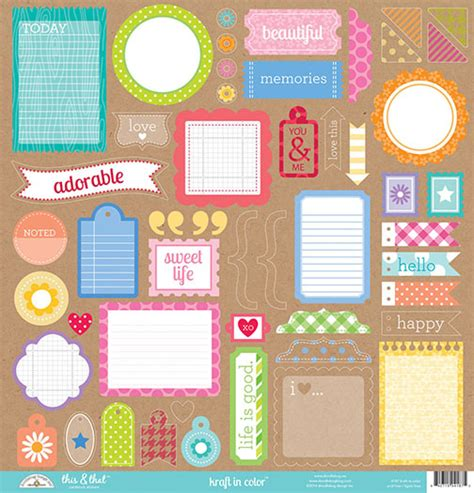 doodlebug kraft in color doodlebug design kraft in color this and that stickers