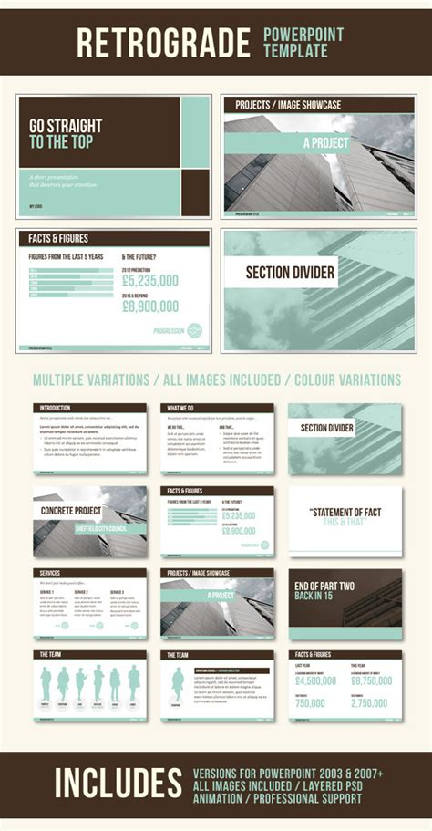 Retrograde Powerpoint Template By Dmxdesign Graphicriver Powerpoint Template Size Photoshop