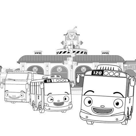 coloring page tayo tayo bus coloring pages get coloring pages