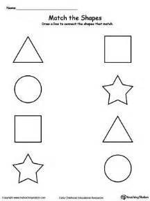 match the shapes worksheets activities and shapes