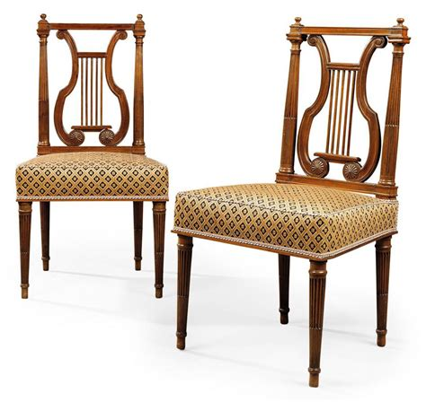 pair  louis xvi mahogany side chairs  georges jacob late  century christies