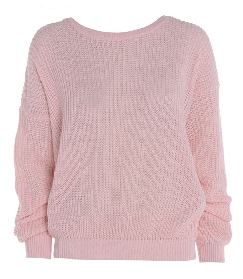 Knitted Jumper womens oversized baggy knitted jumper chunky sweater plus size 8 18 ebay