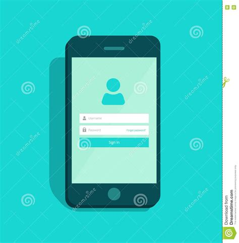 login mobile phone signup illustrations vector stock images 220