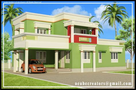 home design plan and elevation 3bhk 3 8 keralahouseplanner