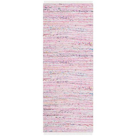 light pink runner rug safavieh rag rug light pink multi 2 ft 3 in x 10 ft