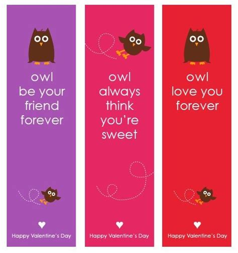 printable owl bookmarks owl valentine s day cards bookmarks free printable