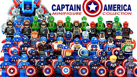 Lego Kw Captain America Civil War Costume Minifigure lego captain america 2016 marvel heroes minifigure